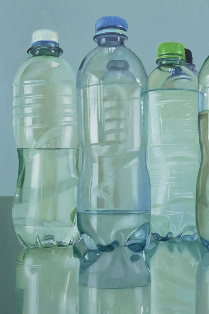 5 Bottles (detail) by Cally Lotz